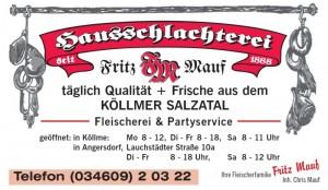 Hausschlachterei Fritz Mauf